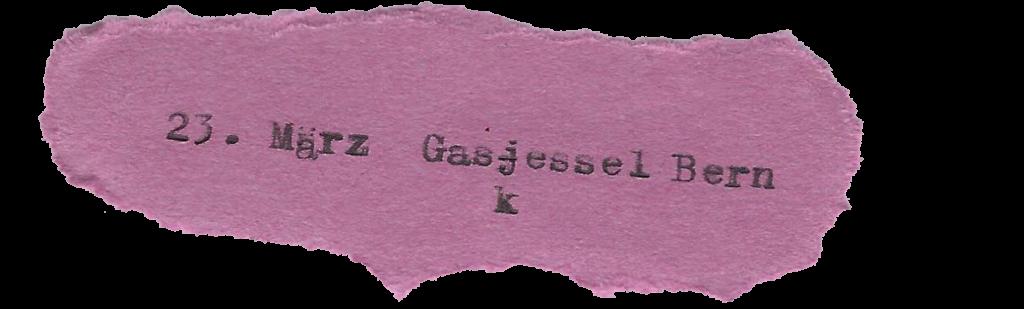 23. März Gaskessel Bern