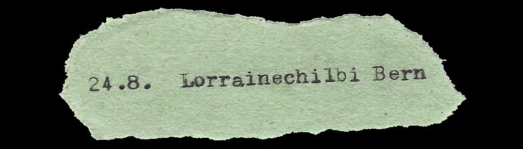 24. 8. Lorrainechilbi Bern