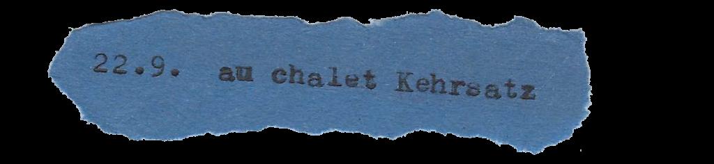 22.9. au chalet Kehrsatz