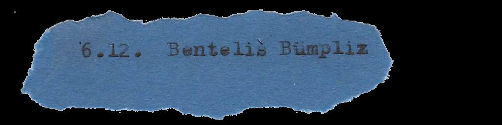 6.12. Benteli's Bümpliz