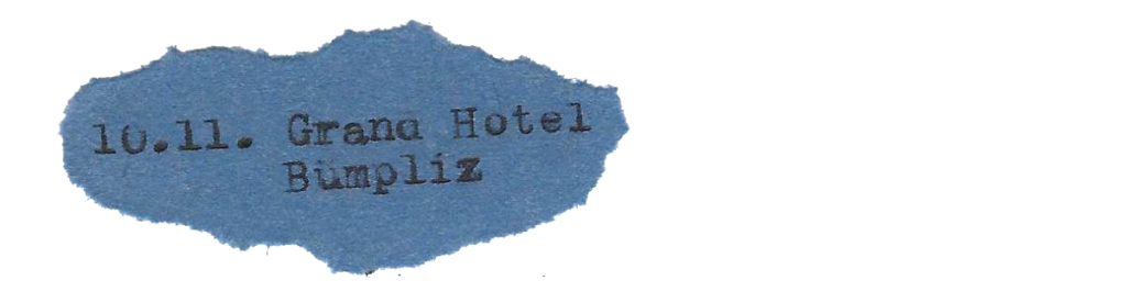 10.11. Grand Hotel Bümpliz