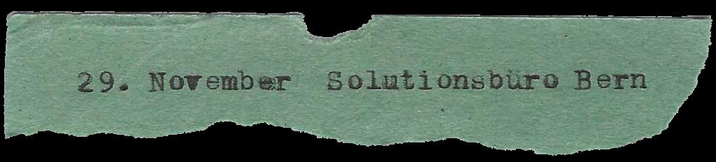 29. November Solutionsbüro Bern